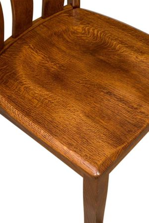 Amish-Custom-Dining-Chairs-Saddle-Scoop-Seat-[Round-Over-Edge]
