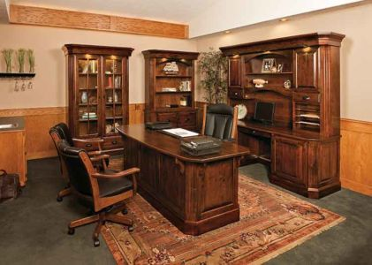 Amish Office Bookcases, Credenza and Hutches
