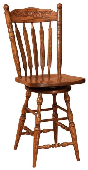 FN-Amish-Custom-Chairs-Northern-Acorn-Stool 1