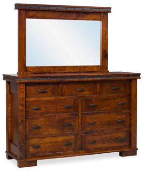 SUN-Amish-Bedroom-Furniture-Monta-Vista-9-Drawer-Dresser-and-Mirror