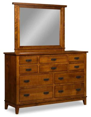 SUN-Amish-Bedroom-Furniture-Sierra-Mission-Dresser-and-Mirror-K-0333-K-044