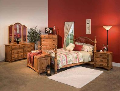 SW-Amish-Custom-Bedroom-Bow-Sheaf-Bed 1