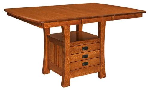 WP-Amish-Custom-Tables-Arts-&-Crafts-Cabinet-Table 1