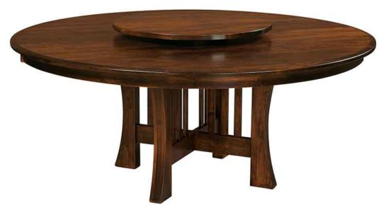 WP-Amish-Custom-Tables-Arts-&-Crafts-with-Lazy-Susan